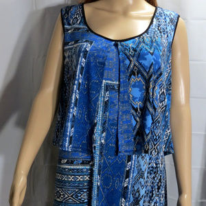 Kim Rogers Dresses - Blue Silky Long Maxi Dress  #DRSS-042
